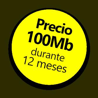 Oferta, precio de 100Mb durante 12 meses con Alterna