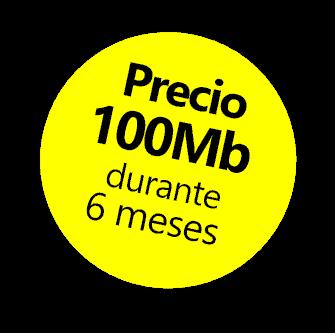 Oferta, precio de la tarifa de 100MB durante 6 meses